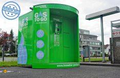 """Der Energieversorger Knauber bitet mit seinen Automatenstationen """"Gas2Go"""" einen Flaschengas-Tasuch zu jeder Zeit an (Foto: det / D.C.I.)"""