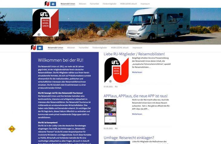 Der Dachverband der Reisemobilfahrer RU unterstützt die Novellierung der EU-Führerscheinrichtlinie und ruft zur Teilnahme an der Bürgeranhörung auf. (Screenshot D.C.I.)