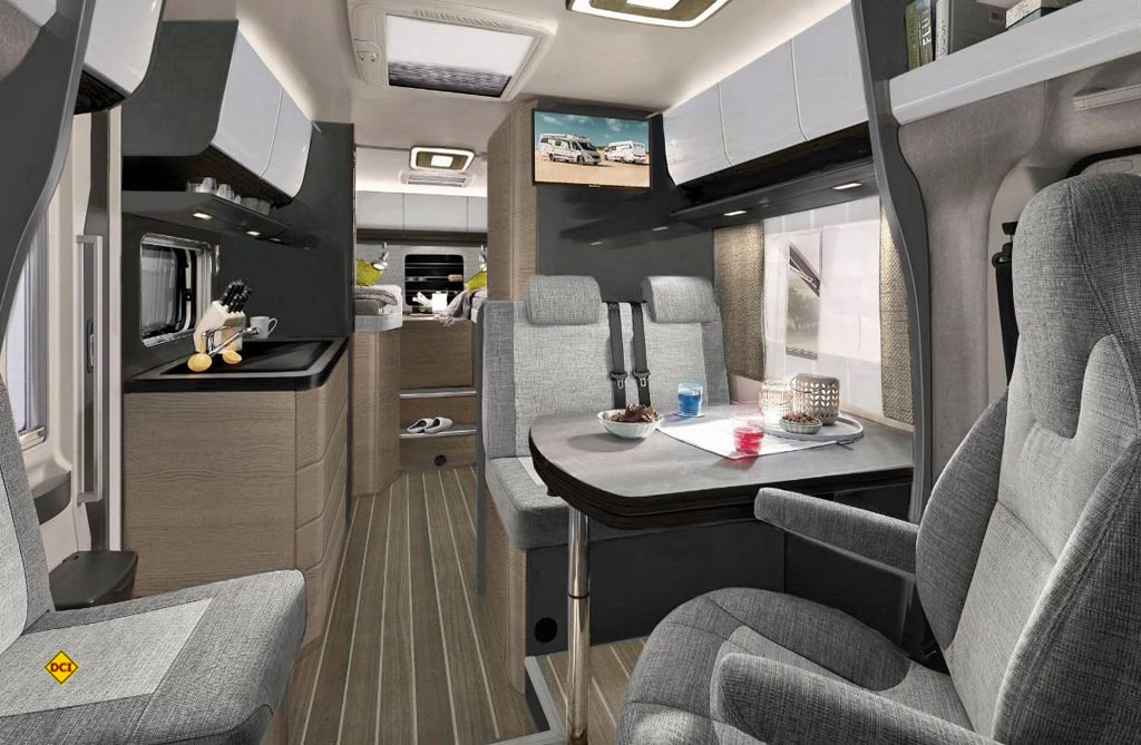 Beim Spitzenmodell Optima Ontour De Luxe zeigt Hobby seine neue Generation des modernen Reisemobil-Interieurs. (Foto: Hobby)