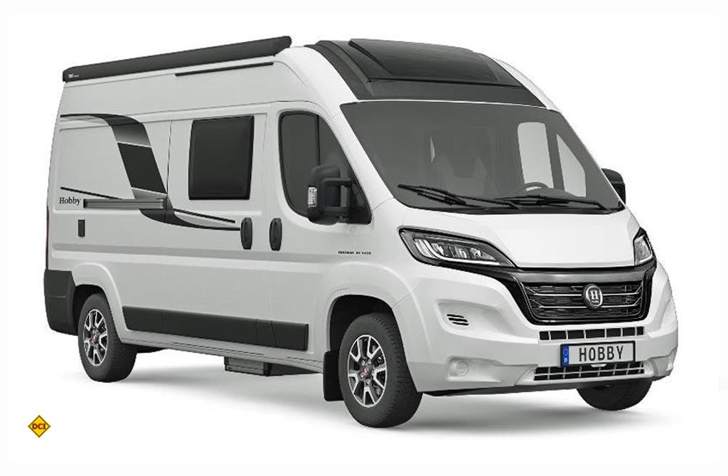 Die Luxusvariante bei den Vans: Mit einem serienmäßigen Panorama-Dachfenster läuft die Top-Baureihe auf dem neuen Fiat Ducato-Chassis. (Foto: Hobby)