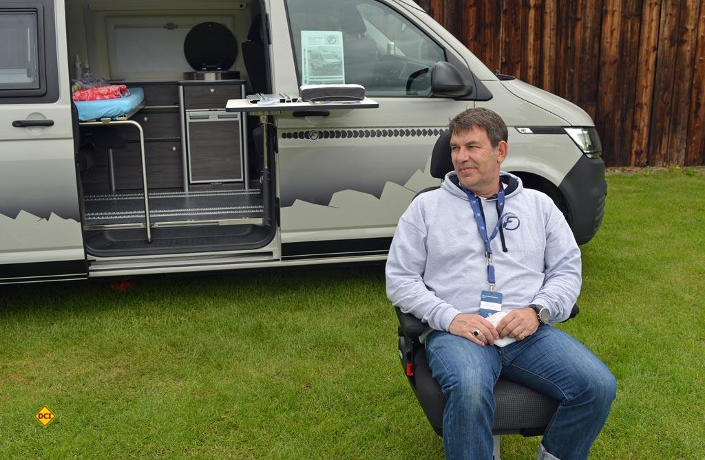 Peter Hammer von Fischer Wohnmobile. (Foto: det / D.C.I.)