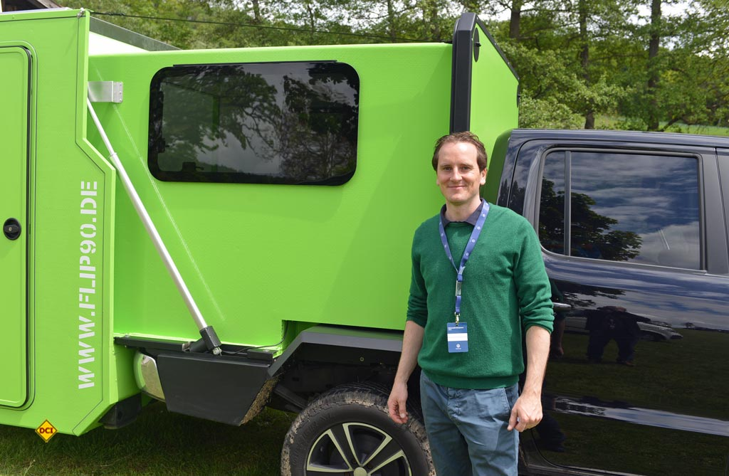 Christopher Weiss von Queensize Camper. (Foto: det / D.C.I.)