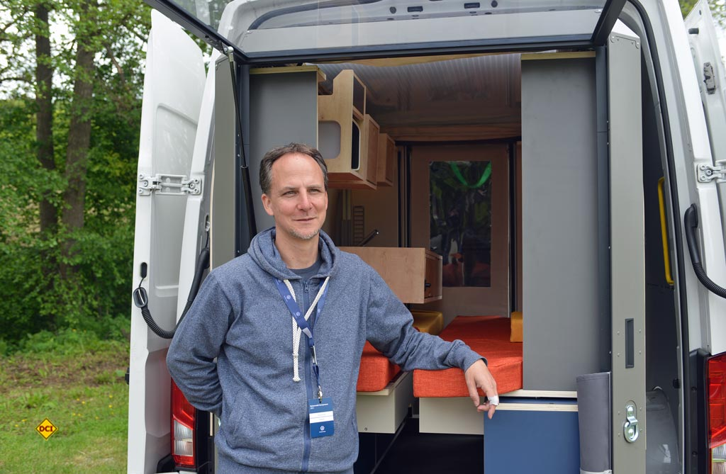Florian Fey ist Mitgründer der Firma Plugvan. (Foto: det / D.C.I.)