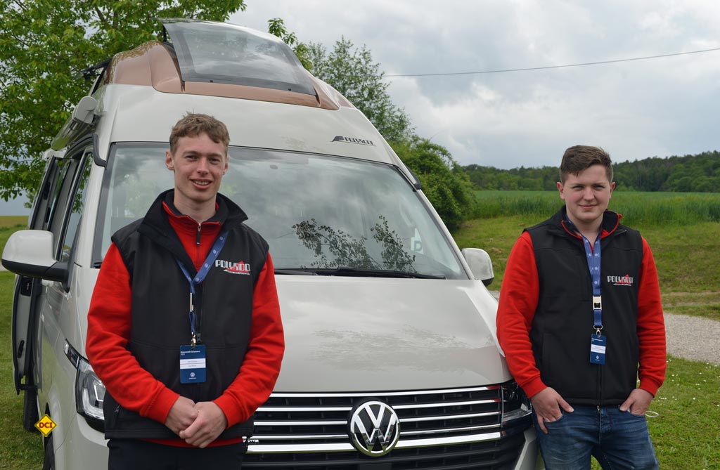 Ralf und Paul Günther (rechts) vom Dachspezialisten Polyroof. (Foto: det / D.C.I.)