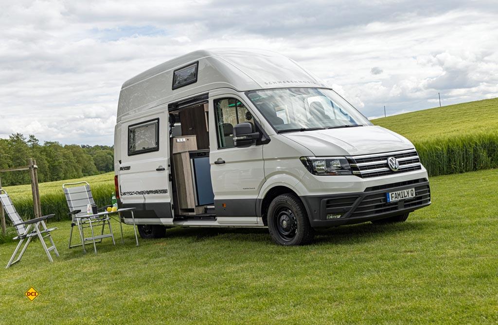 Der Schwabenmobil Family Q basiert auf dem VW Crafter und ist ein flexibles Familienmobil mit Stockbetten. (Foto: VWN)