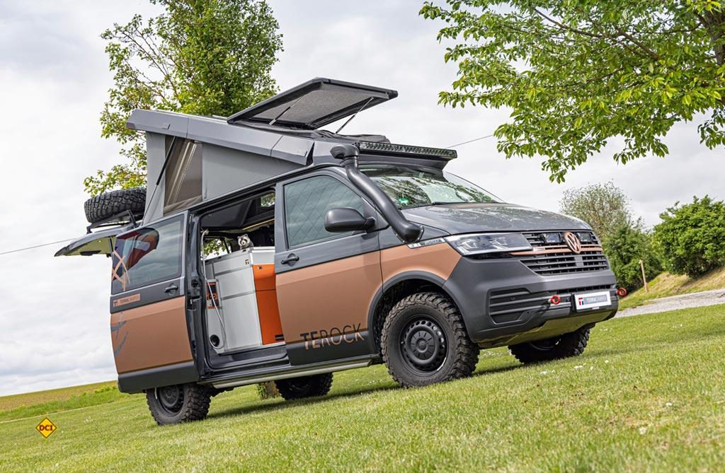 Terra Camper baut mit dem Terock einen knackigen, hochwrtigen Oprroader auf dem VW T 6.1. (Foto: VWN)