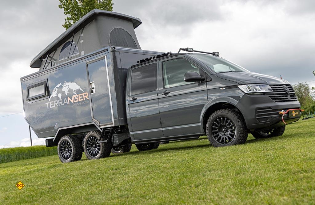 Das ist schon exotisch: Terranger-Kabine aufgebaut auf einem Doppelachser-Fahrgestellt des VW T 6. (Foto: VWN)