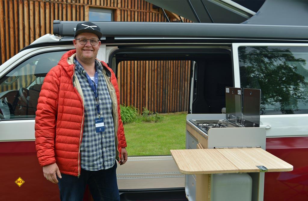 Thorsten Trunk von Bulli-bü betreut den Deutschlandvertrien der Tonke Fahrzeuge. (Foto: det / D.C.I.)