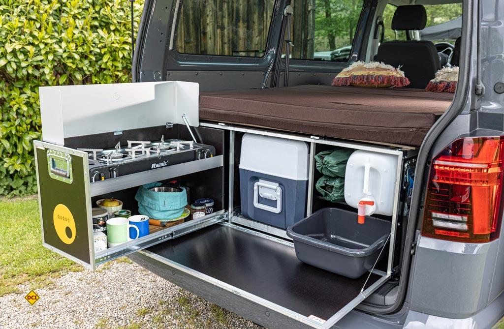 Ququq bietet einfache, praktische und solide Campingboxen für den Bulli. (Foto: VWN)