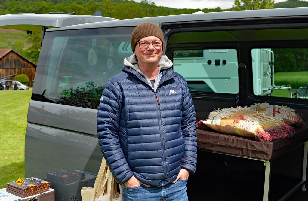 Ulrich Vielmetter von QuquQ Campingboxsystemen. (Foto: det / D.C.I.)