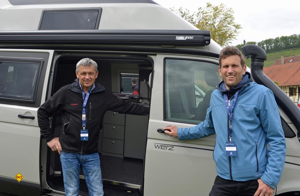 Uwe Werz und der neue Werz-Chef Ernst Thielicke (rechts). (Foto: det / D.C.I.)