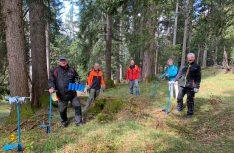 Mitglieder des Vereins WOHNmobil für Klimaschutz e.V. haben am 14. Mai 2021 die 300 von Verein gespendeten Bäume (Tannen und Lärchen) im Bergwald bei Eschenlohe/Bayern gepflanzt. (Foto: Wohnobil für Klimaschutz)
