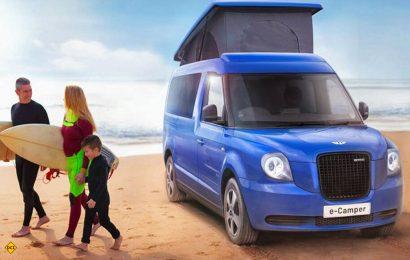 LEVC will den neu auf den Markt gebrachten Van VN 5 künftig auch als Elektro-Reisemobil anbieten. (Foto: LECV)