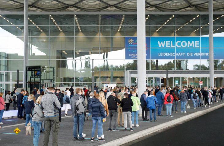 Trotz strengem Hygienekonzept und pandemiebedingter Einschränkungen ist der Caravan Salon 2021 in Düsseldorf gut angelaufen. (Foto: Caravan Salon)