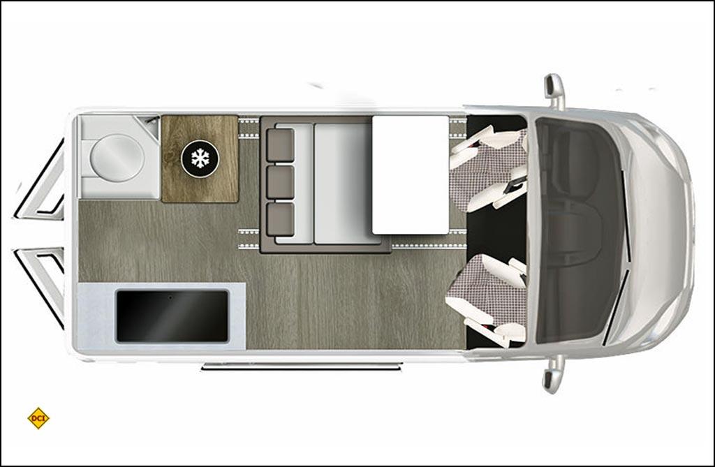 Grundriss Karmann Duncan 535. (Grafik: Karmann)