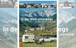 """Lesenswertes Nachschlagwerk über die Geschichte des Camping: Das neue Buch """"In der Welt unterwegs - Die Geschichte des Camping"""" aus dem Delius Klasing Verlag. (Foto: Delius Klasing)"""