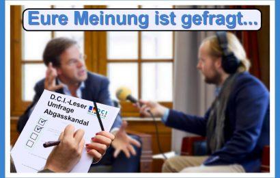 Eure Meinung ist gefragt: D.C.I.-Leser-Umfrage zum Abgasskandal. (Foto: Inge van Mil; https://commons.wikimedia.org/wiki/File:Interview_Radio_4_(6840565867).jpg)